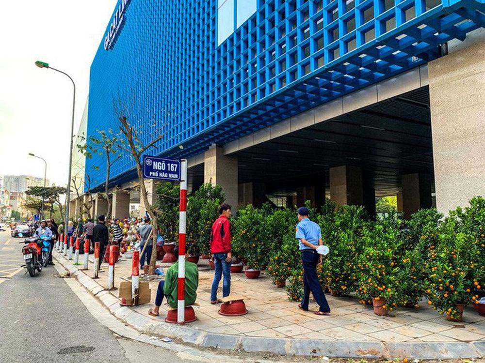 Cận cảnh nhà ga đường sắt Cát Linh - Hà Đông thành chợ cây cảnh - Ảnh 3.
