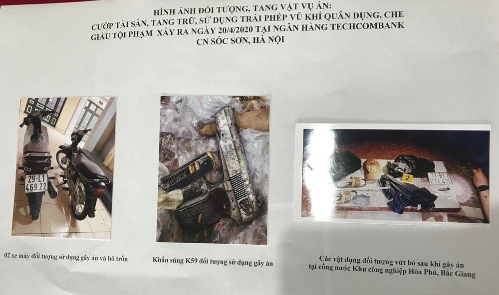 Kẻ nổ súng cướp ngân hàng ở Sóc Sơn khai báo quanh co về khẩu súng - Ảnh 1.