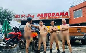 Công an huyện Mèo Vạc đã nhắc nhở 4 người đàn ông khỏa thân trên Mã Pì Lèng - ảnh 1