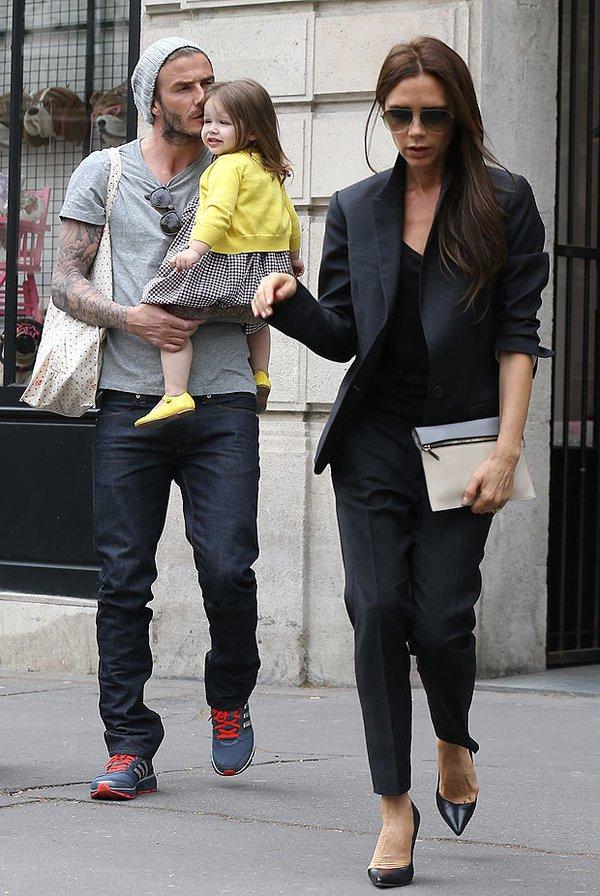 Chỉ có Vic và bé Harper tới Paris đón sinh nhật cùng David