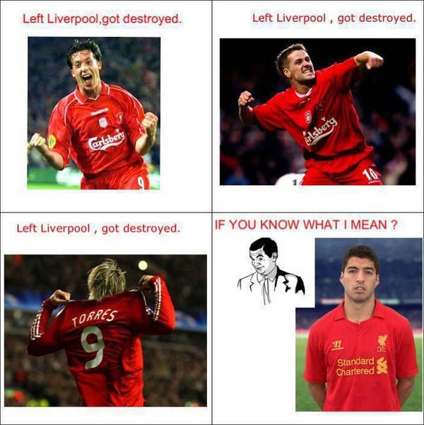 Cứ nhìn gương mà học nhé Suarez