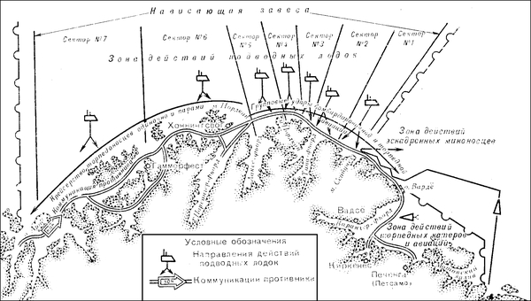 Khu vực phục kích của tầu ngầm hải quân Xô viết năm 1944 trên tuyến đường cơ động của tầu địch