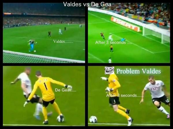 Sự khác biệt giữa Valdes và De Gea