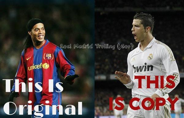 Hóa ra chỉ là copy thôi sao Ronaldo?