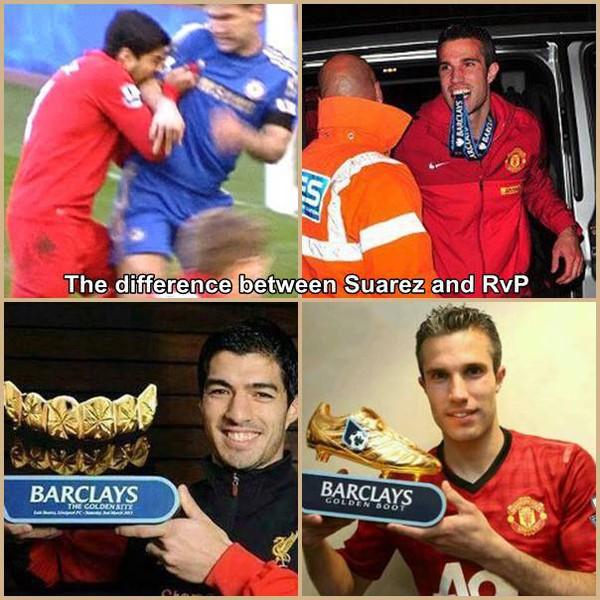 Sự khác nhau giữa Van Persie và Suarez
