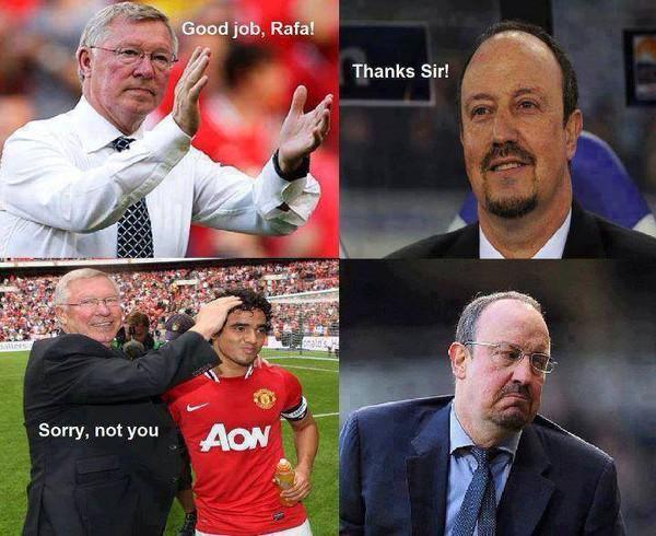 Sir Alex troll Benitez