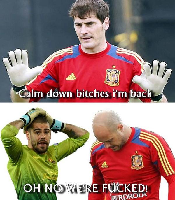 Casillas trở lại, cơ hội nào cho Valdes và Riena?