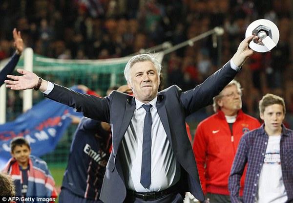 Ancelotti là HLV xuất sắc nhất tại Ligue 1 mùa này