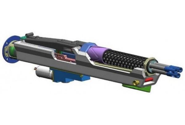 Mô hình 3D của súng máy RMG 3 nòng.