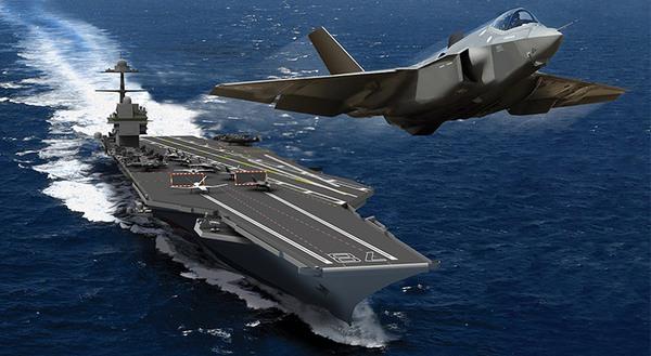 Thiết kế tàu sân bay lớp Ford (CVN-21) của Mỹ.