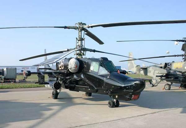 Loại trực thăng này do công ty Kamov bắt đầu thiết kế từ thập niên 1980 và được chấp nhận đưa vào sử dụng trong quân đội Nga năm 1995. Ka-50 Black Shark được thiết kế nhỏ gọn, nhanh và linh hoạt nhằm có được ưu thế tồn tại và khả năng tấn công.