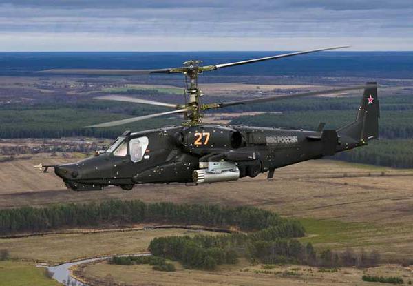 Vũ khí chính của Ka-50 Black Shark gồm 12 tên lửa chống tăng điều khiển laser VIKhR với tầm bắn tối đa 8 km.