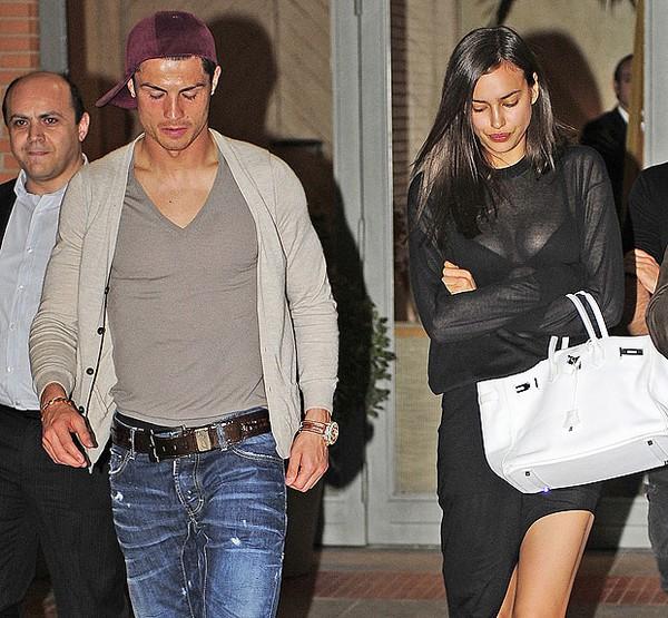 Thứ Năm vừa rồi, Irina giận dỗi Cris Ronaldo