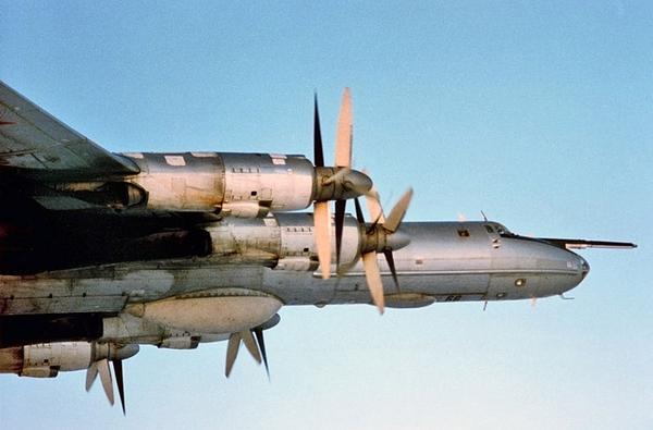 Tu-142 được trang bị 4 động cơ tuốc bin cánh quạt Kuznetsov NK-12MV cho phép đạt tốc độ 925km/h, bán kính chiến đấu 6.500km. Máy bay có khả năng bay liên tục 10,5 tiếng trên không. Tu-142 mang được tới 9 tấn vũ khí trong khoang gồm: ngư lôi chống ngầm, thủy lôi.
