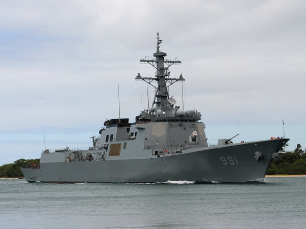 Tàu khu trục lớp Aegis của Hàn Quốc.