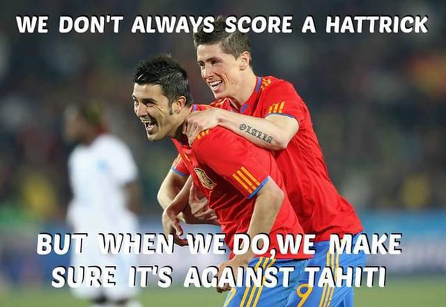 Họ rất ít khi lập hat-trick nhưng khi đã lập là phải vào lưới Haiti
