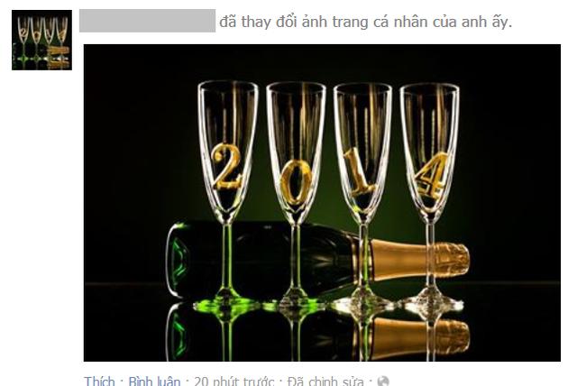 Một vài dân mạng đã thay đổi ảnh đại diện là ảnh chào năm mới.