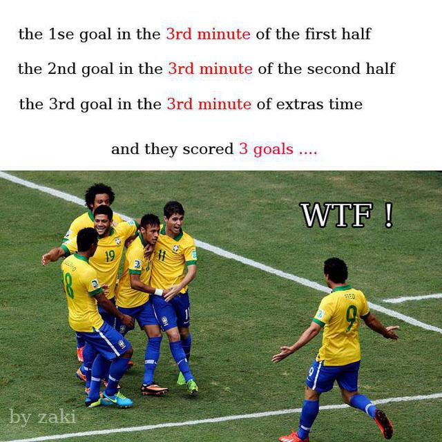 Brazil bá đạo quá, cứ phải là số 3 mới thích