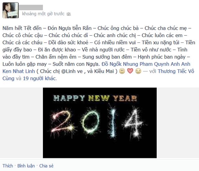 Lời chúc mừng năm mới bằng thơ.