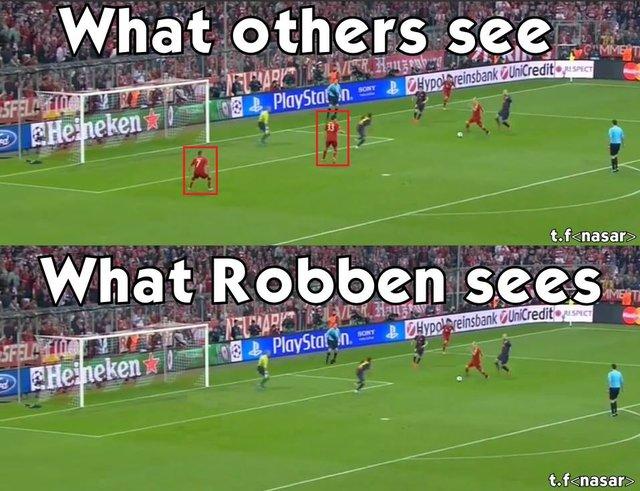 Sự khác biệt trong mắt người thường và Robben