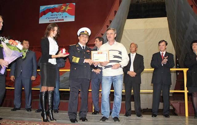 Lễ đặt ky đóng tàu hộ vệ tên lửa Gepard Việt Nam