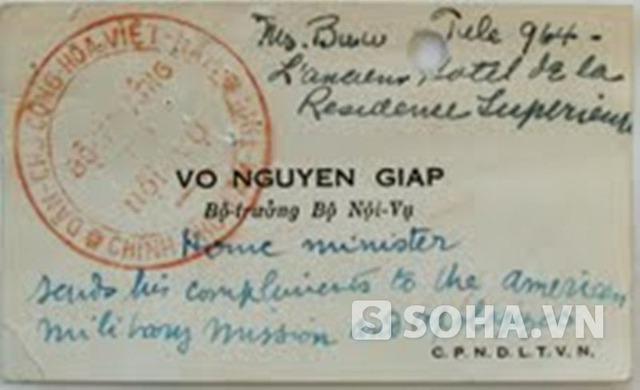 Những điều ít biết về tấm các-vi-dít của Đại tướng Võ Nguyên Giáp