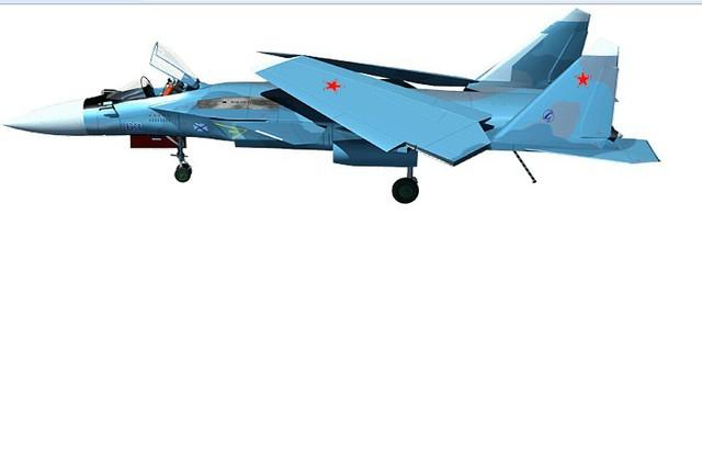 So với phiên bản tiêu chuẩn, Su-47 phiên bản trên hạm được thiết kế với kiểu cánh sau có thể gập lại để giúp tiết kiện diện tích khi đậu trên tàu sân bay.