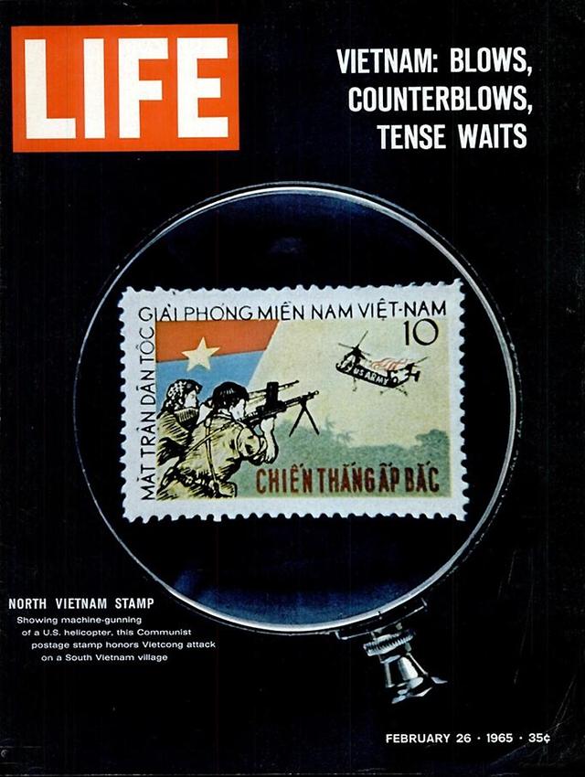 Hình ảnh con tem của miền Bắc Việt Nam trên bìa tạp chí. Số ra ngày 26/1/1965.