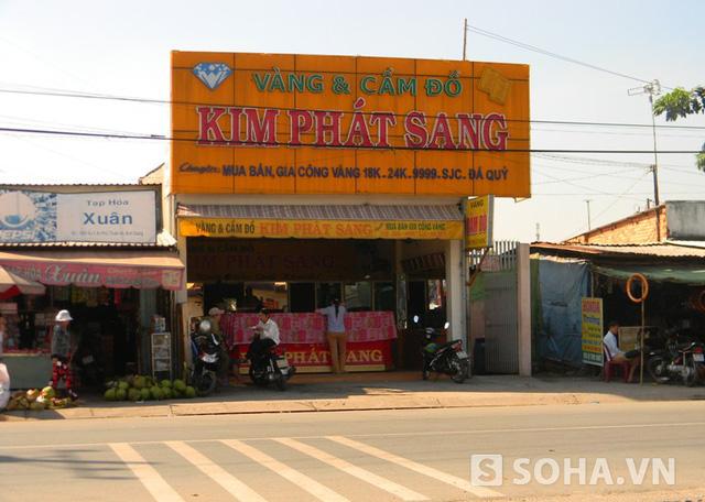 Tiệm vàng Kim Phát Sang, nơi xảy ra vụ mất hàng trăm lượng vàng