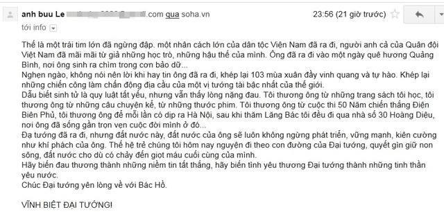 Độc giả có email: Mrdesign...