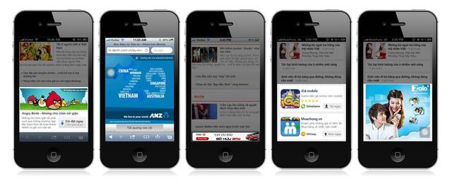 Các định dạng quảng cáo trên di động: Sponsored Box, Pop-up, Catfish, Inline, Medium banner
