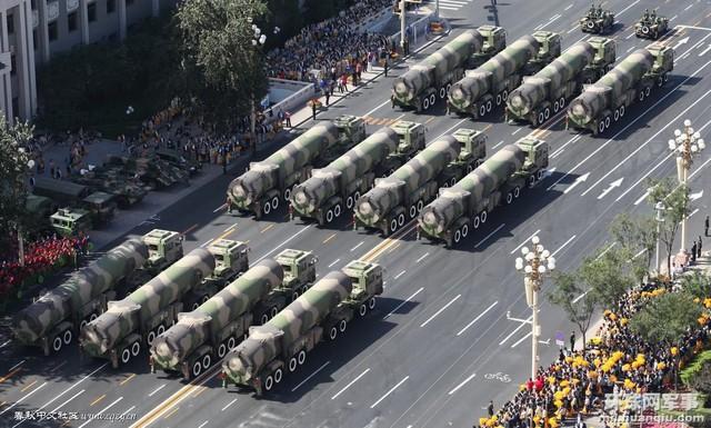 Tên lửa đạn đạo Dongfeng-31A  của Trung Quốc.