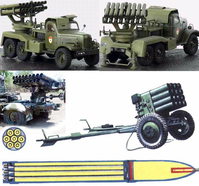 Cấu tạo dàn phóng và đạn phản lực BM-14