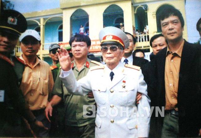 Bức ảnh chụp Đại tướng năm 2004 được ông Cư coi như