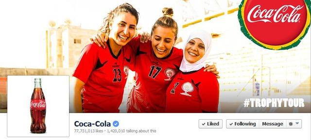 """Facebook fanpage của Coca-Cola là nơi """"săn"""" vé đón Cúp vàng thú vị nhất"""