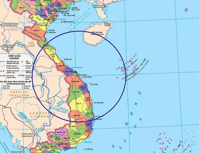 Bố trí Bastion-P mới ở Đà Nẵng sẽ giúp Việt Nam lập vành đai an toàn trên biển để các lực lượng tàu chiến dễ dàng hoạt động (vùng khoanh tròn bán kính 300 km, vùng bảo vệ của Bastion-P)
