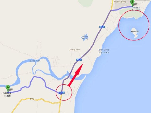 Đoàn xe chở linh cữu Đại tướng còn cách Vũng Chùa khoảng 15km
