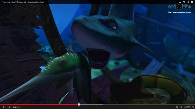 Cảnh Cá mập chuẩn bị ăn thịt Cá kiếm.