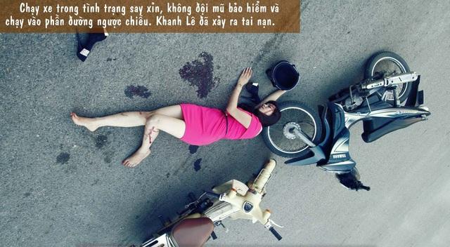 Sốt với bộ ảnh nữ sinh tai nạn kinh hoàng tuyên truyền giao thông