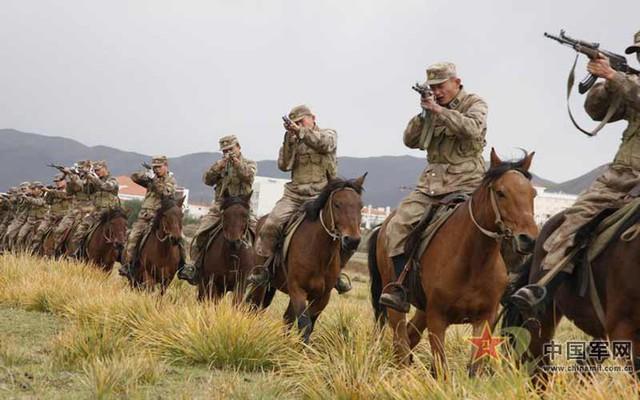 Cũng theo báo chí TQ thì đội quân kỵ mã của nước này được trang bị súng cùng với gươm như thời trung cổ.