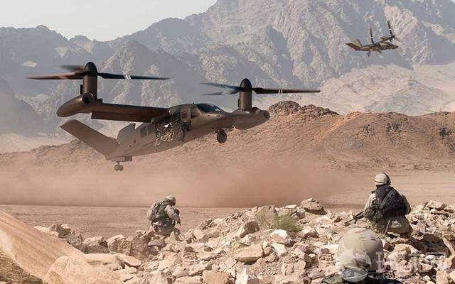 Hình ảnh đồ họa V-280 Valor ngoài thực địa được giới thiệu trong quân đội Mỹ.