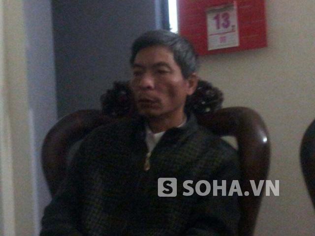 Ông Bùi Văn Khánh, cán bộ phụ trách khu tập thể chung cư Huyện ủy Thanh Trì