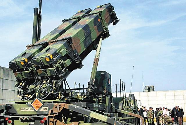 Bệ phóng nghiêng của Patriot PAC-3