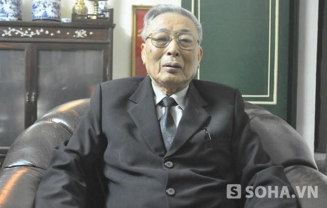 Trung tướng Đồng Sỹ Nguyên - Nguyên Uỷ viên Bộ Chính trị, nguyên Phó Chủ tịch Hội đồng Bộ trưởng (Ảnh: Tuấn Nam)