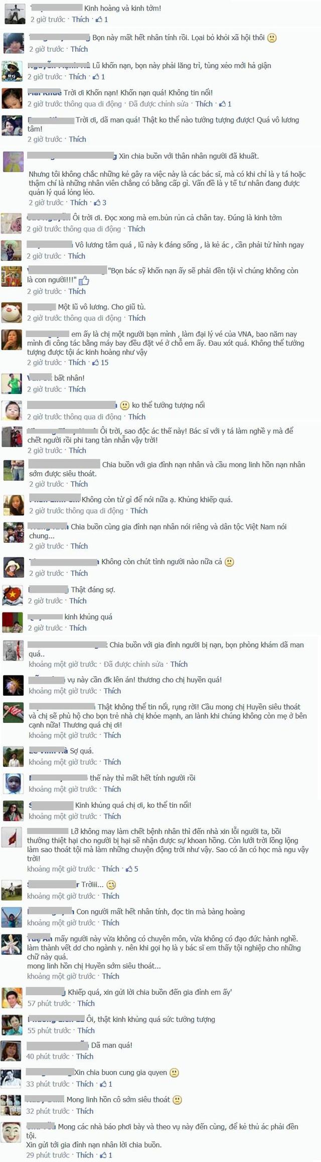 Những bình luận bàng hoàng và đau xót của cộng đồng mạng.
