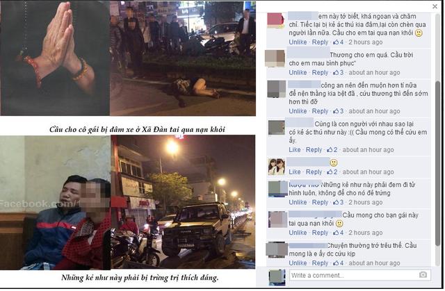 Dân mạng chia sẻ bức ảnh cầu nguyên nữ sinh gặp nạn tai qua nạn khỏi (nguồn ảnh: facebook)