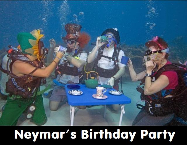Đây là bữa tiệc sinh nhật của Neymar và những đồng đạo thợ lặn