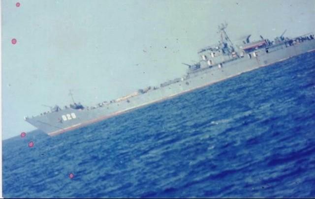 Chiếc 929 đóng vai trò soái hạm và hậu cần của Hạm đội Nam Hải trong chiến dịch CQ-88