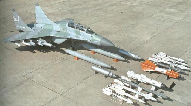 Mig-29M2 cùng với các loại vũ khí đa dạng có thể mang theo