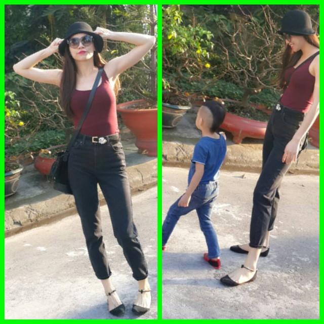 Hồ Ngọc Hà và con trai đi chợ hoa trước Tết